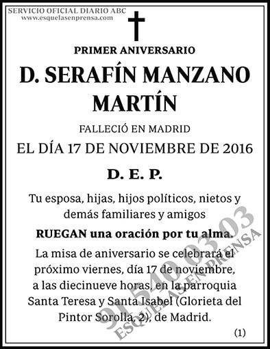 Serafín Manzano Martín